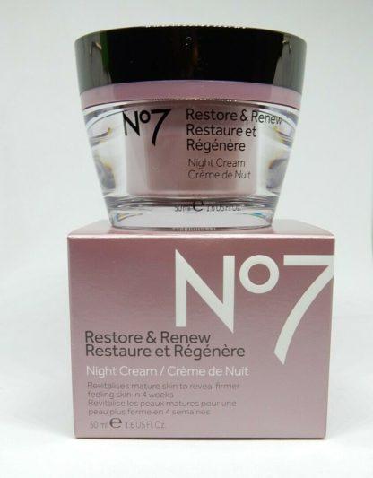 Boots No7 Restore & Renew Night Cream 1.6 oz hypo-allergenic