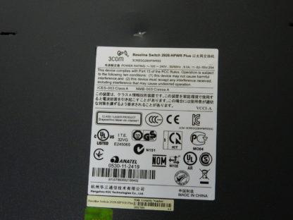 24 port Managed Gigabit Switch 3Com Baseline Plus3