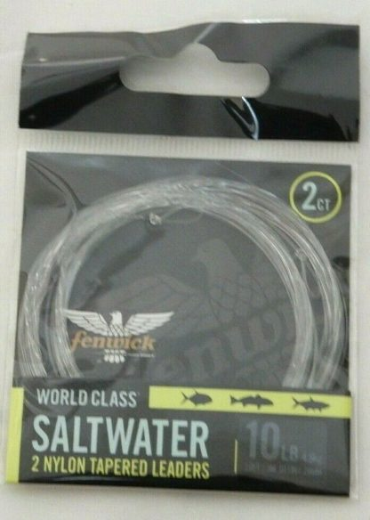 10 lb Saltwater Leader Tapered World Class Pre-looped nylon co-polymer 2 pack