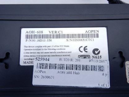 8 Port 10/100 Hub 90.18D10.036 AOpen AOH-608 1