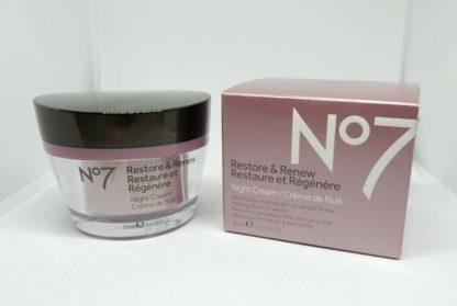 Boots No7 Restore & Renew Night Cream 1.6 oz hypo-allergenic nourishes skin1