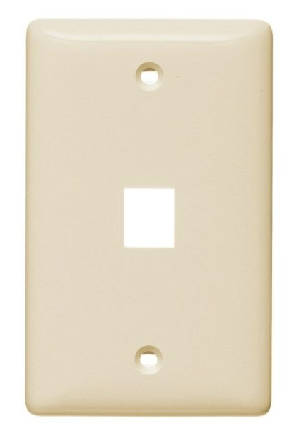 almond wall plate single gang snap in fit 1 port nsp11la Netslect 410802 uL rate