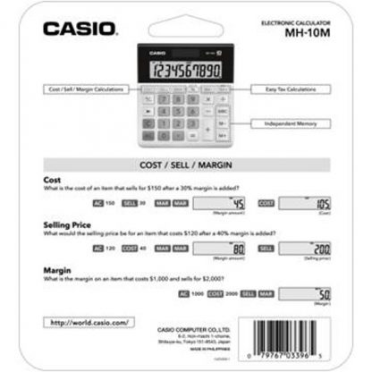Casio MH-10 10-Digit Desktop Calculator
