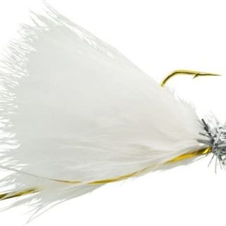 Johnson Beetle BOU Fishing Bait (10 Count), White/Chrome Tinsel/White, 1/32 oz/ 2""