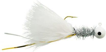 """Johnson Beetle BOU Fishing Bait (10 Count), White/Chrome Tinsel/White, 1/32 oz/ 2"""""""