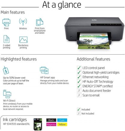 HP OfficeJet Pro 6230 Wireless Printer Works with Alexa 4
