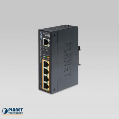 IPOE-E174 IP30 Industrial 1-Port 60W Ultra POE to 4-Port 802.3af/at Gigabit POE Extender (-40 to 75 C)