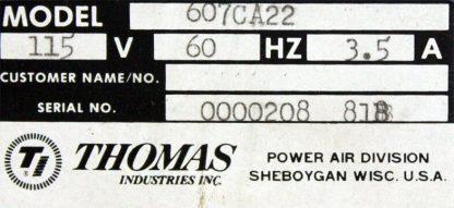 Thomas Industries Inc. 607CA22